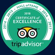 tripadvisor 2018 Certificate of Excellence logo